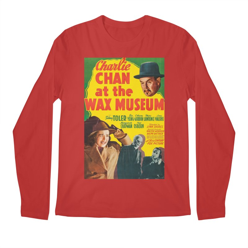 Charlie Chan at the Wax Museum, vintage movie poster Men's Longsleeve T-Shirt by ALMA VISUAL's Artist Shop
