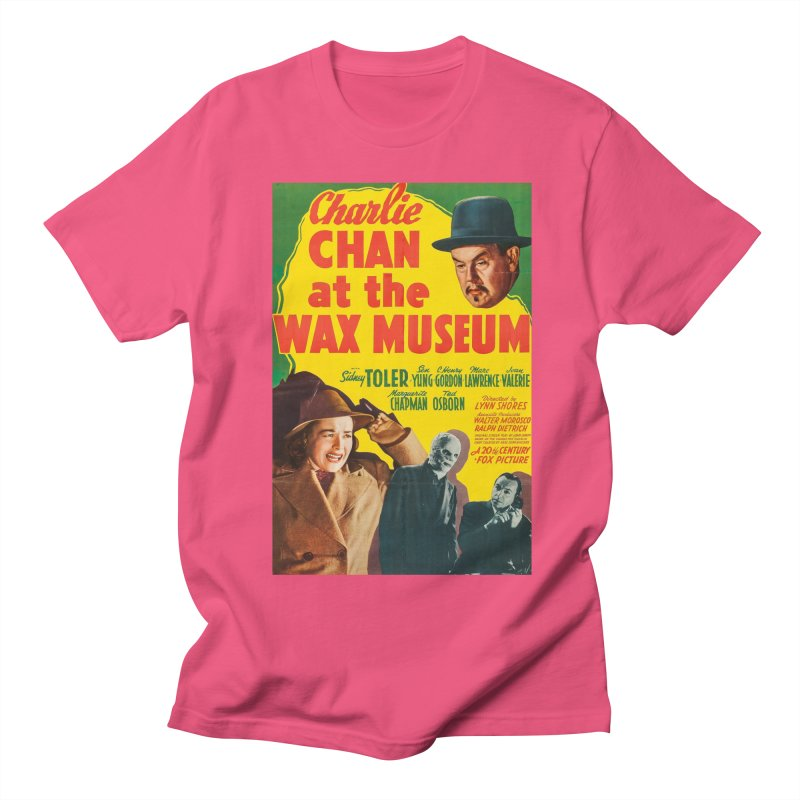 Charlie Chan at the Wax Museum, vintage movie poster Men's Regular T-Shirt by ALMA VISUAL's Artist Shop