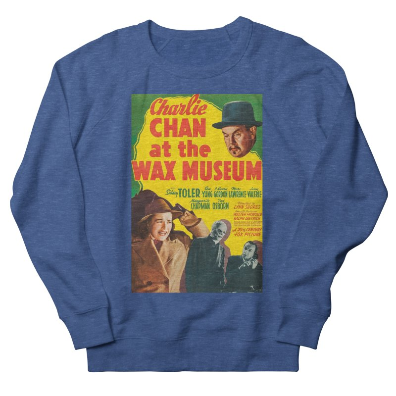 Charlie Chan at the Wax Museum, vintage movie poster Men's French Terry Sweatshirt by ALMA VISUAL's Artist Shop
