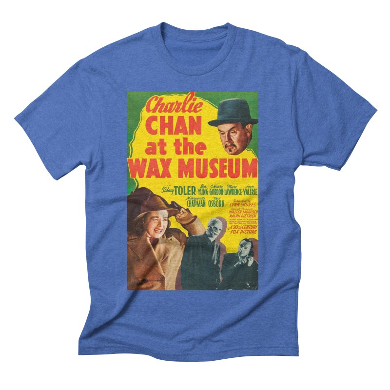 Charlie Chan at the Wax Museum, vintage movie poster Men's Triblend T-Shirt by ALMA VISUAL's Artist Shop