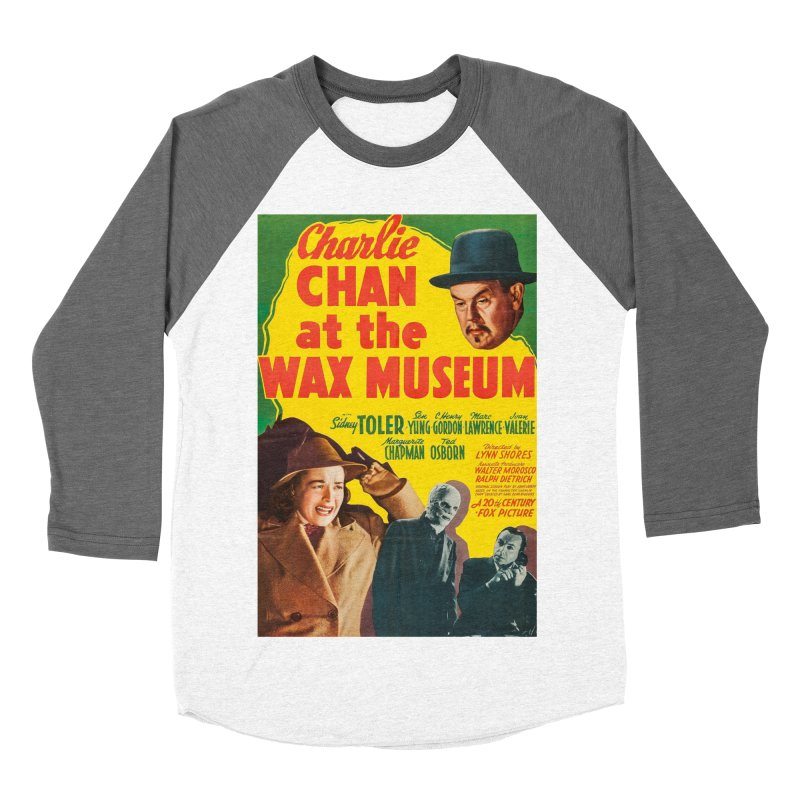 Charlie Chan at the Wax Museum, vintage movie poster Women's Baseball Triblend Longsleeve T-Shirt by ALMA VISUAL's Artist Shop