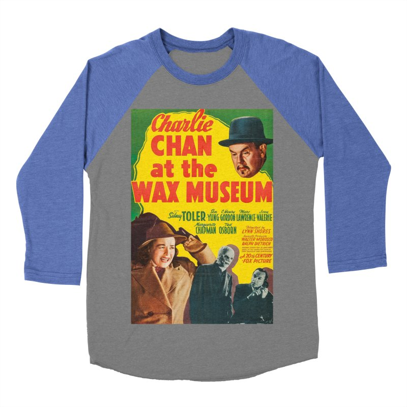 Charlie Chan at the Wax Museum, vintage movie poster Women's Baseball Triblend T-Shirt by ALMA VISUAL's Artist Shop