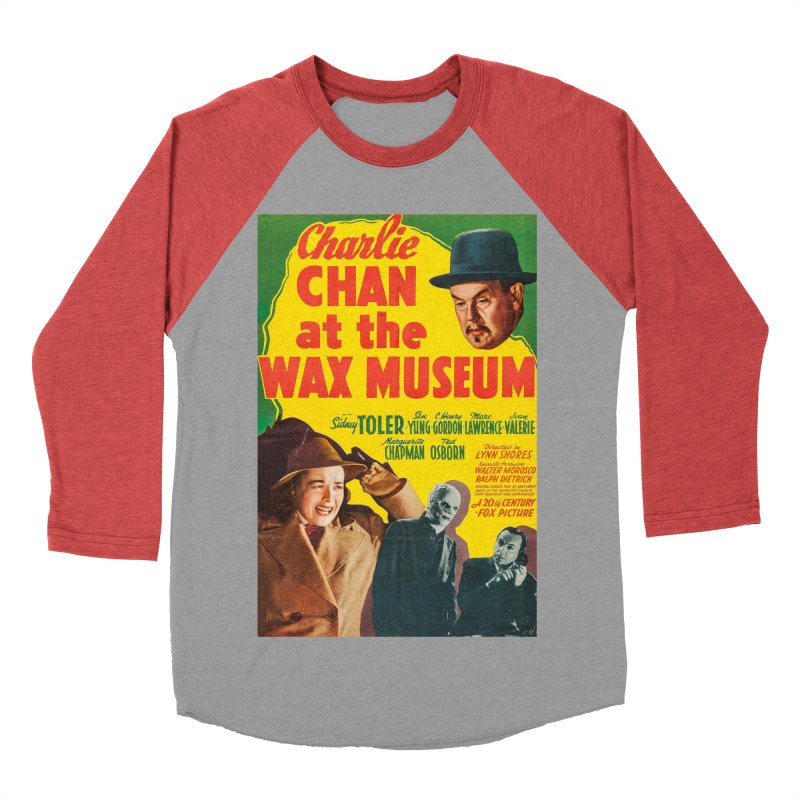 Charlie Chan at the Wax Museum, vintage movie poster Men's Baseball Triblend T-Shirt by ALMA VISUAL's Artist Shop