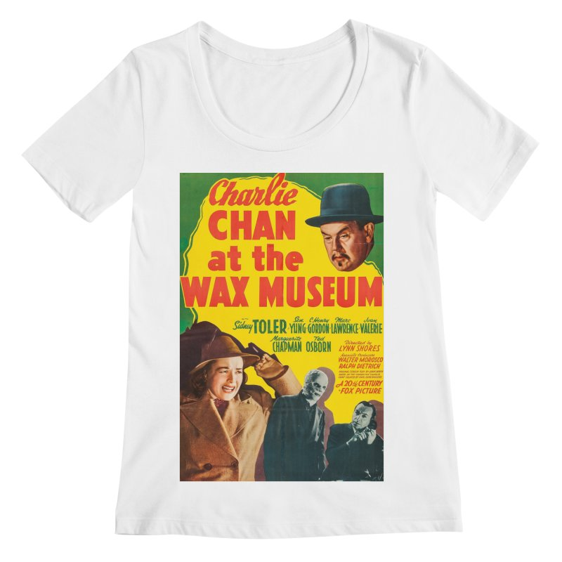 Charlie Chan at the Wax Museum, vintage movie poster Women's Regular Scoop Neck by ALMA VISUAL's Artist Shop