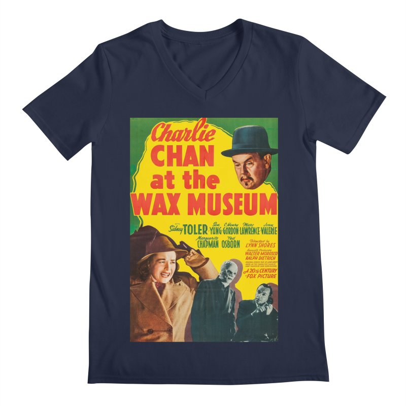 Charlie Chan at the Wax Museum, vintage movie poster Men's Regular V-Neck by ALMA VISUAL's Artist Shop