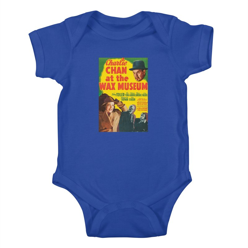 Charlie Chan at the Wax Museum, vintage movie poster Kids Baby Bodysuit by ALMA VISUAL's Artist Shop