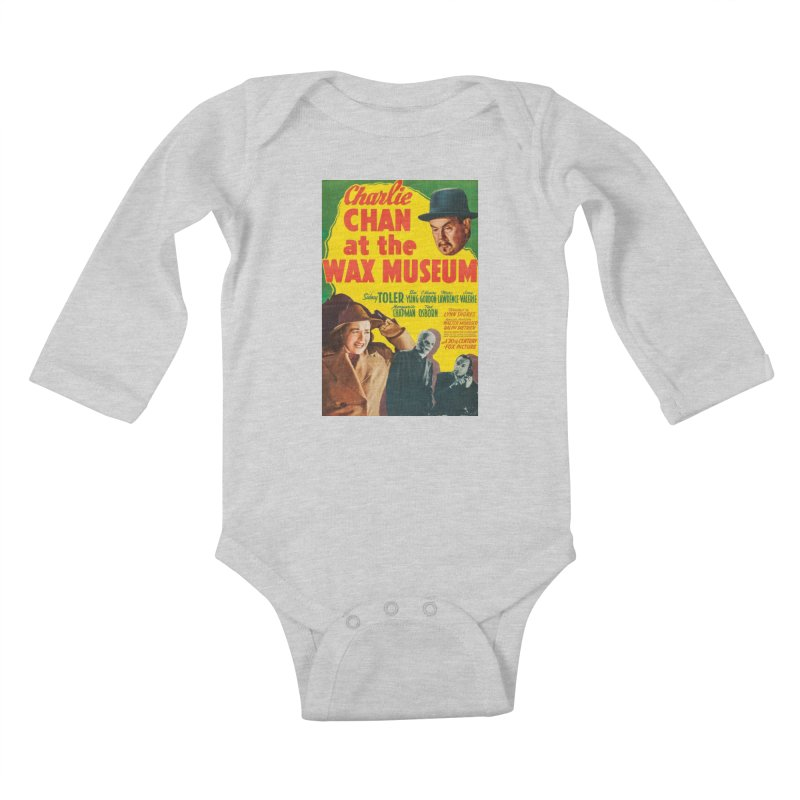 Charlie Chan at the Wax Museum, vintage movie poster Kids Baby Longsleeve Bodysuit by ALMA VISUAL's Artist Shop