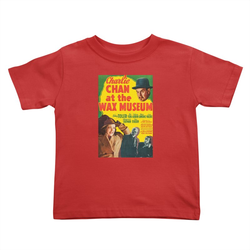 Charlie Chan at the Wax Museum, vintage movie poster Kids Toddler T-Shirt by ALMA VISUAL's Artist Shop