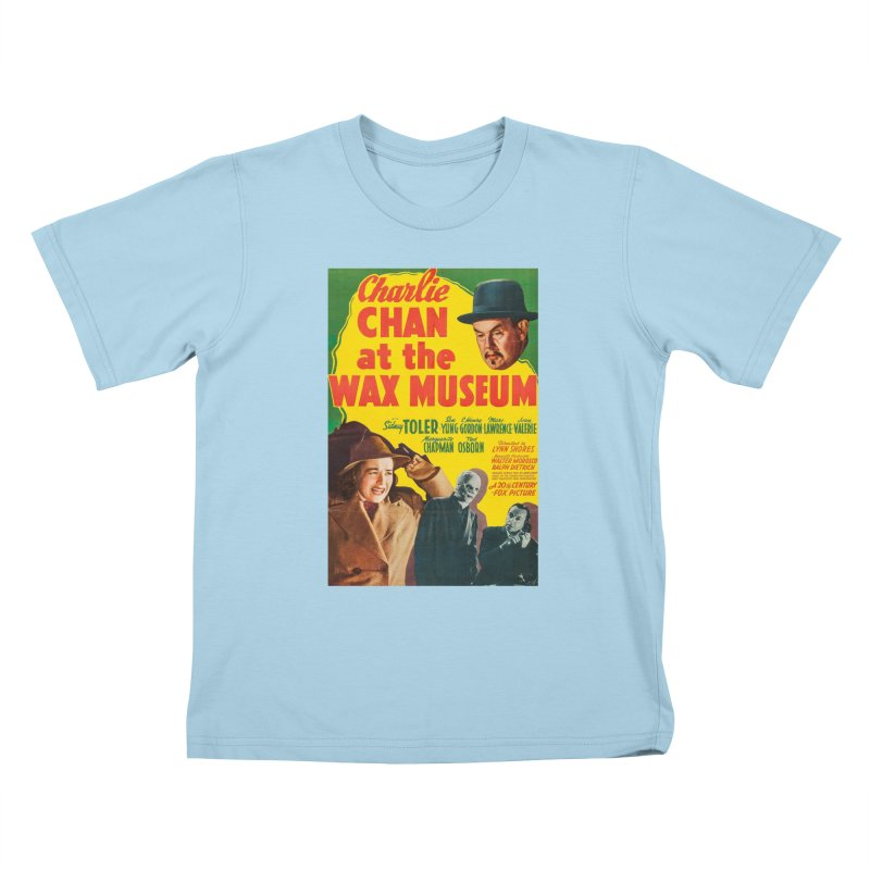 Charlie Chan at the Wax Museum, vintage movie poster Kids T-Shirt by ALMA VISUAL's Artist Shop