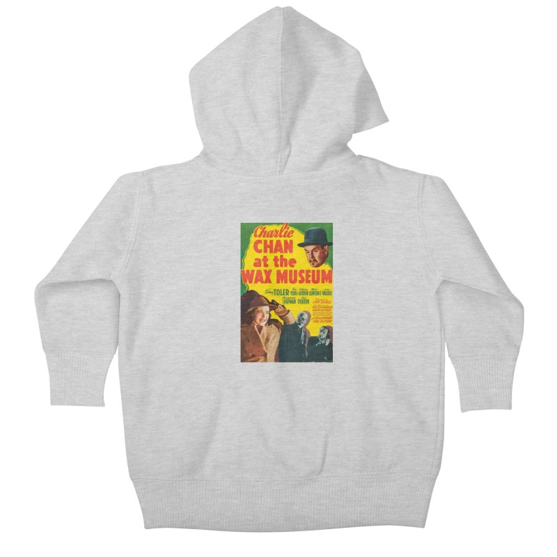 Charlie Chan at the Wax Museum, vintage movie poster Kids Baby Zip-Up Hoody by ALMA VISUAL's Artist Shop