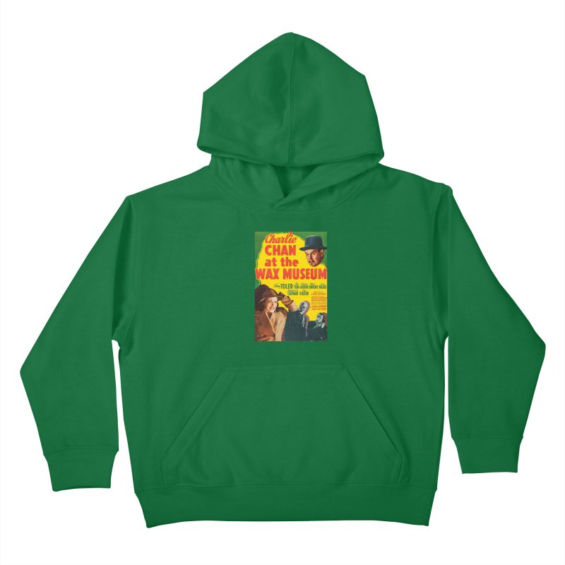 Charlie Chan at the Wax Museum, vintage movie poster Kids Pullover Hoody by ALMA VISUAL's Artist Shop
