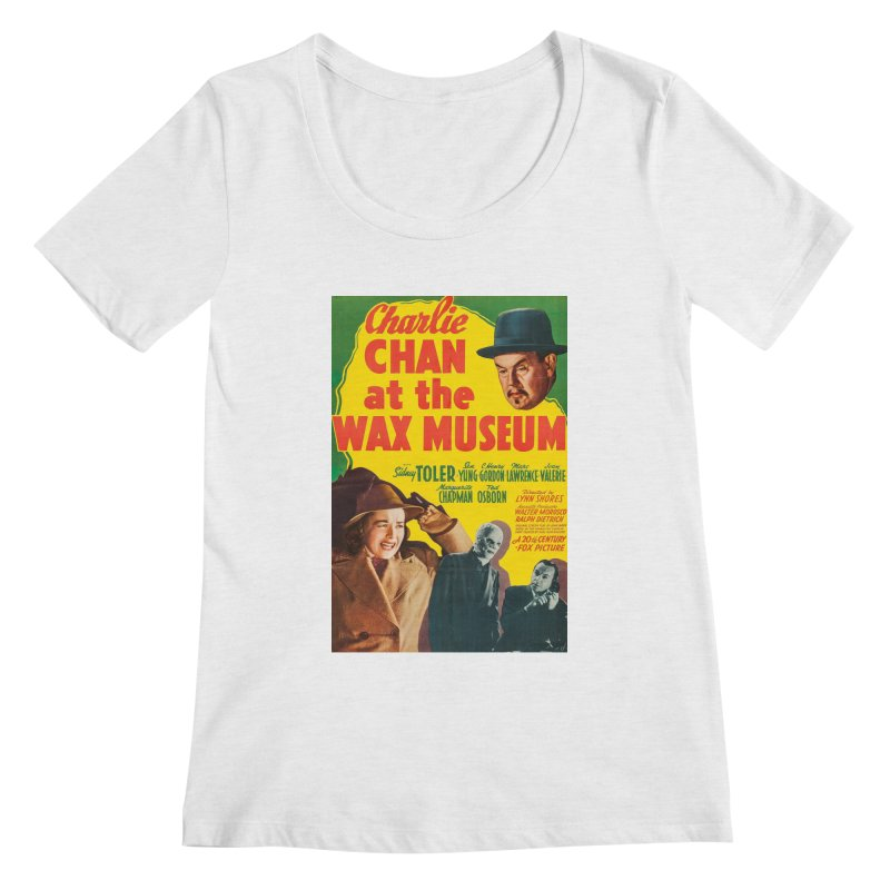 Charlie Chan at the Wax Museum, vintage movie poster Women's Scoopneck by ALMA VISUAL's Artist Shop