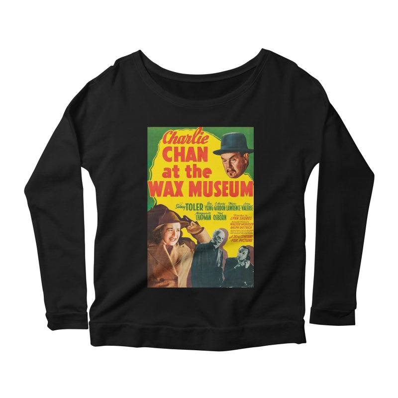 Charlie Chan at the Wax Museum, vintage movie poster Women's Longsleeve Scoopneck  by ALMA VISUAL's Artist Shop