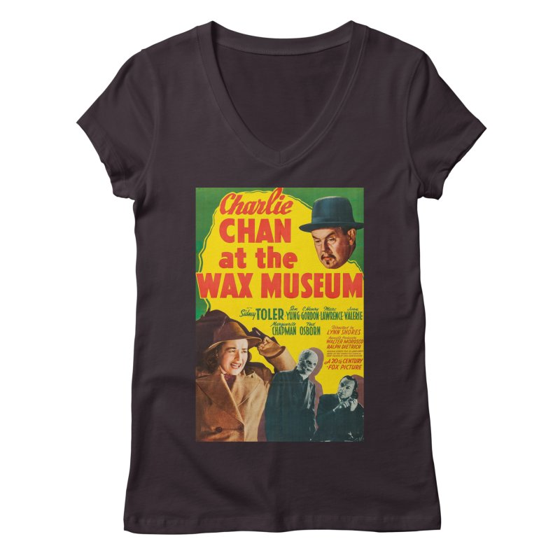 Charlie Chan at the Wax Museum, vintage movie poster Women's Regular V-Neck by ALMA VISUAL's Artist Shop