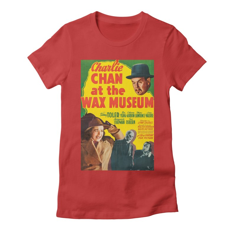 Charlie Chan at the Wax Museum, vintage movie poster Women's Fitted T-Shirt by ALMA VISUAL's Artist Shop