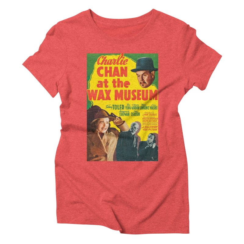 Charlie Chan at the Wax Museum, vintage movie poster Women's Triblend T-Shirt by ALMA VISUAL's Artist Shop