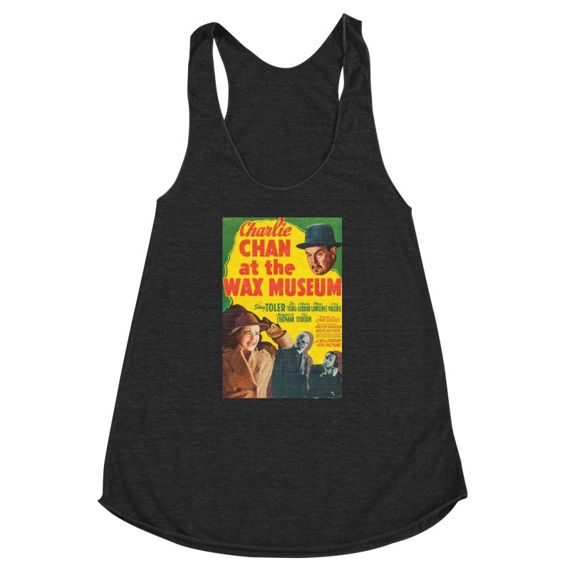 Charlie Chan at the Wax Museum, vintage movie poster Women's Racerback Triblend Tank by ALMA VISUAL's Artist Shop