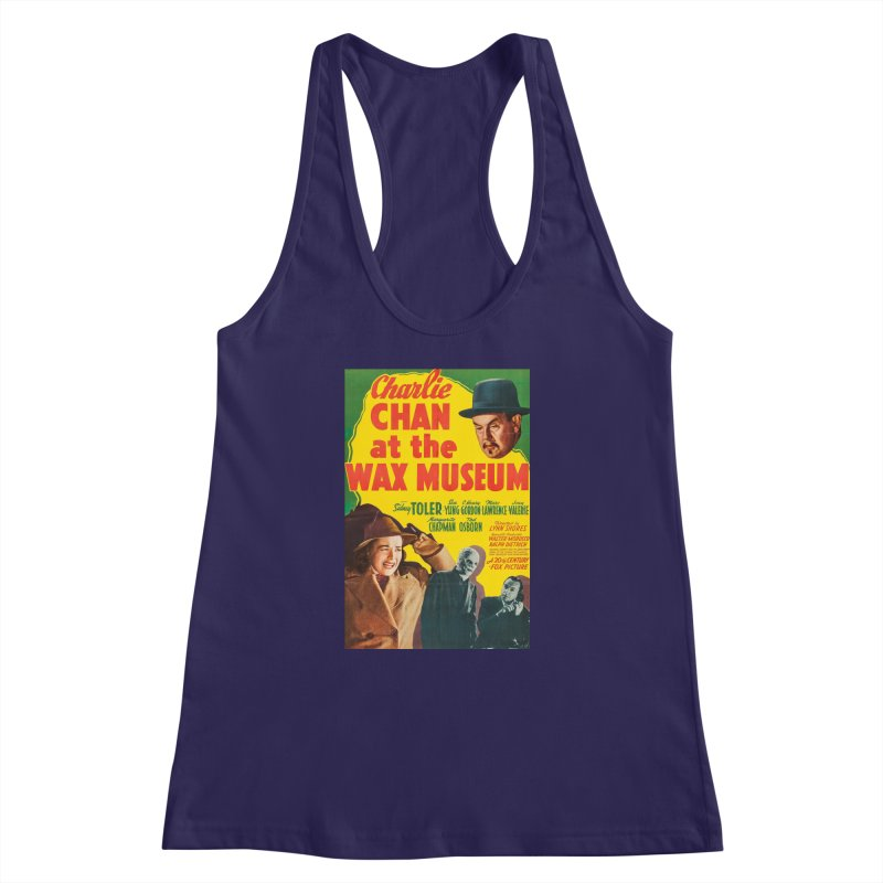 Charlie Chan at the Wax Museum, vintage movie poster Women's Racerback Tank by ALMA VISUAL's Artist Shop