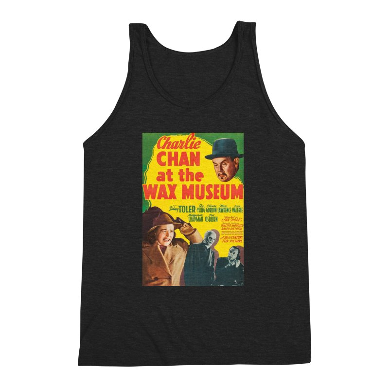 Charlie Chan at the Wax Museum, vintage movie poster Men's Triblend Tank by ALMA VISUAL's Artist Shop