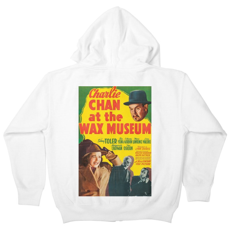 Charlie Chan at the Wax Museum, vintage movie poster Kids Zip-Up Hoody by ALMA VISUAL's Artist Shop