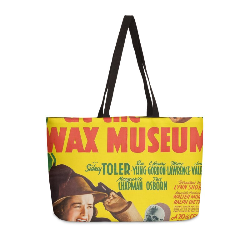 Charlie Chan at the Wax Museum, vintage movie poster Accessories Weekender Bag Bag by ALMA VISUAL's Artist Shop