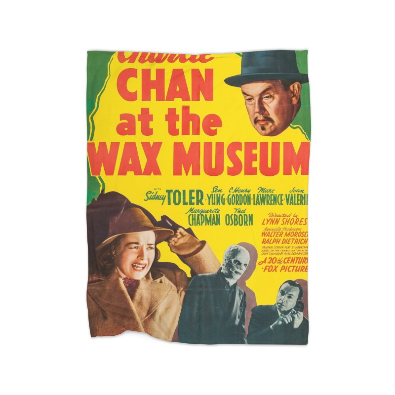 Charlie Chan at the Wax Museum, vintage movie poster Home Blanket by ALMA VISUAL's Artist Shop