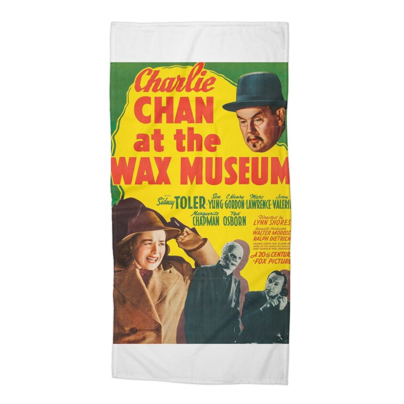 Charlie Chan at the Wax Museum, vintage movie poster Accessories Beach Towel by ALMA VISUAL's Artist Shop