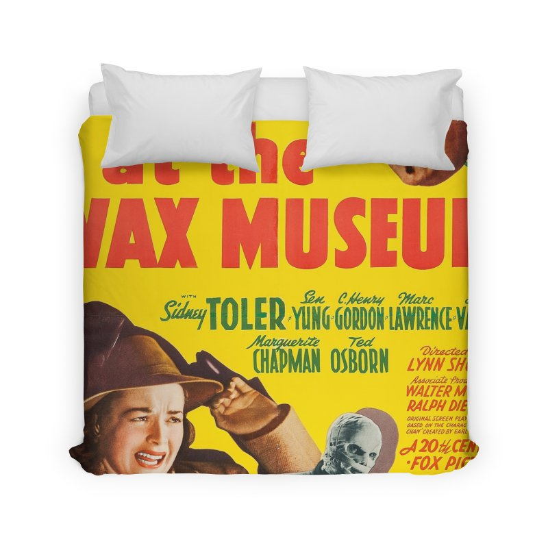 Charlie Chan at the Wax Museum, vintage movie poster Home Duvet by ALMA VISUAL's Artist Shop