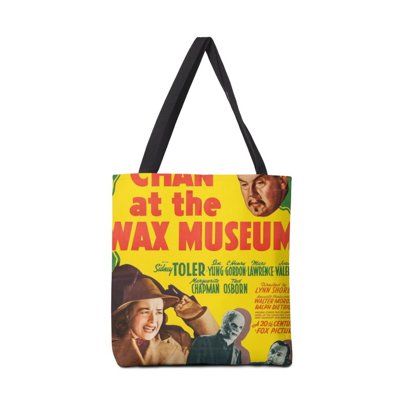 Charlie Chan at the Wax Museum, vintage movie poster Accessories Bag by ALMA VISUAL's Artist Shop