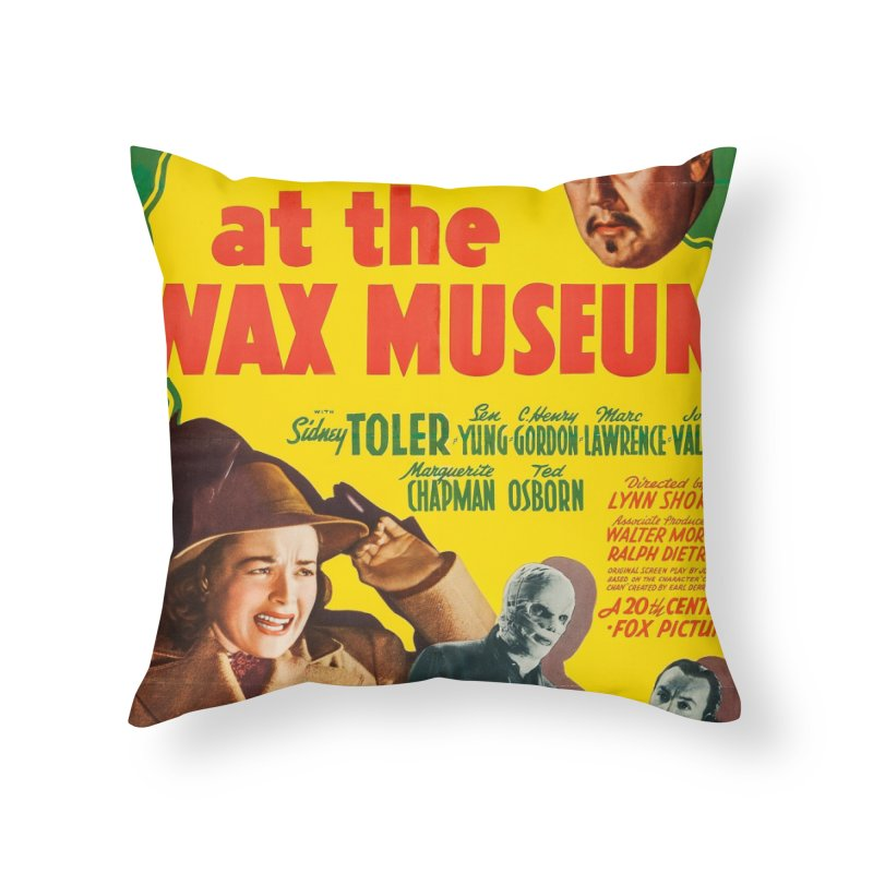 Charlie Chan at the Wax Museum, vintage movie poster Home Throw Pillow by ALMA VISUAL's Artist Shop