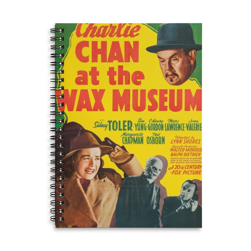 Charlie Chan at the Wax Museum, vintage movie poster Accessories Lined Spiral Notebook by ALMA VISUAL's Artist Shop
