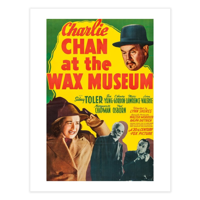 Charlie Chan at the Wax Museum, vintage movie poster Home Fine Art Print by ALMA VISUAL's Artist Shop