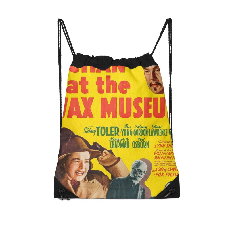 Charlie Chan at the Wax Museum, vintage movie poster Accessories Drawstring Bag Bag by ALMA VISUAL's Artist Shop