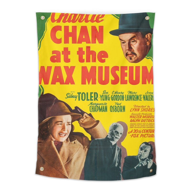 Charlie Chan at the Wax Museum, vintage movie poster Home Tapestry by ALMA VISUAL's Artist Shop