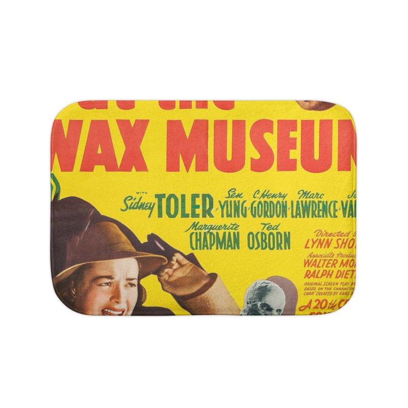 Charlie Chan at the Wax Museum, vintage movie poster Home Bath Mat by ALMA VISUAL's Artist Shop