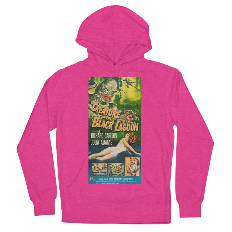Creature from the Black Lagoon, vintage horror movie poster Men's Pullover Hoody by ALMA VISUAL's Artist Shop