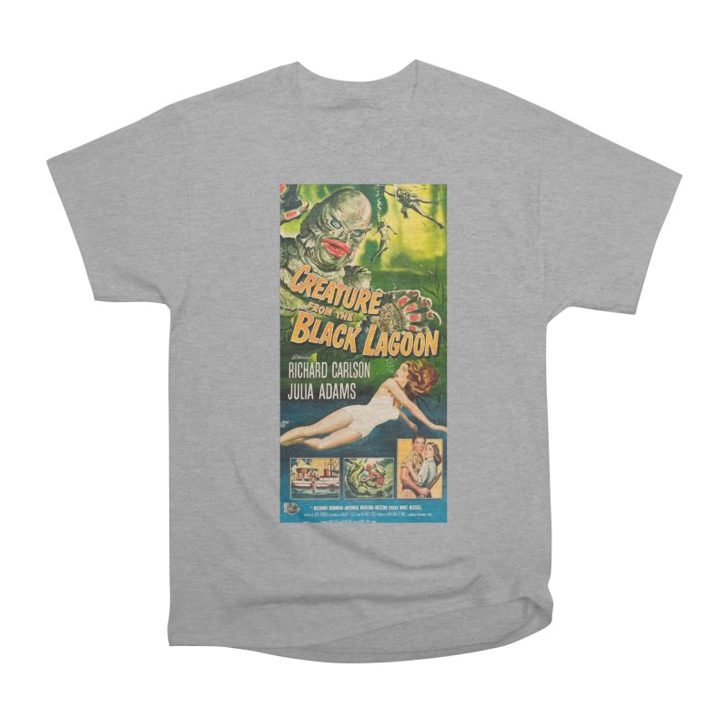 Creature from the Black Lagoon, vintage horror movie poster Women's Heavyweight Unisex T-Shirt by ALMA VISUAL's Artist Shop