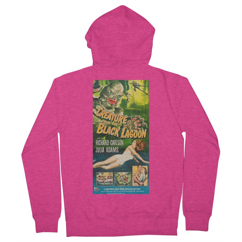 Creature from the Black Lagoon, vintage horror movie poster Women's Zip-Up Hoody by ALMA VISUAL's Artist Shop