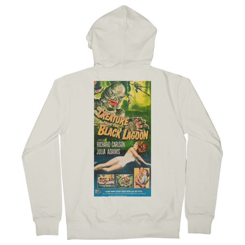 Creature from the Black Lagoon, vintage horror movie poster Men's Zip-Up Hoody by ALMA VISUAL's Artist Shop