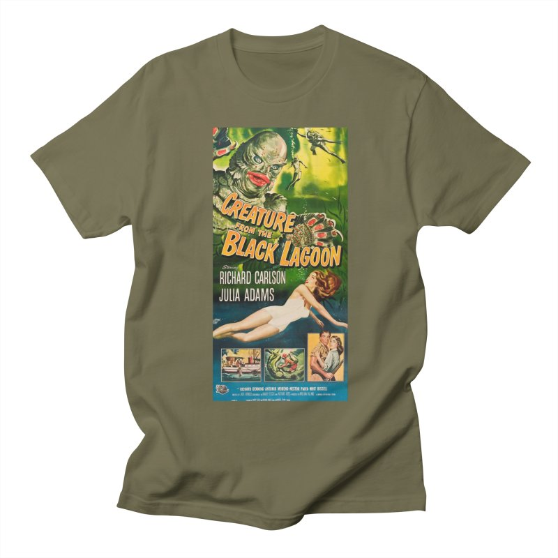 Creature from the Black Lagoon, vintage horror movie poster Men's Regular T-Shirt by ALMA VISUAL's Artist Shop