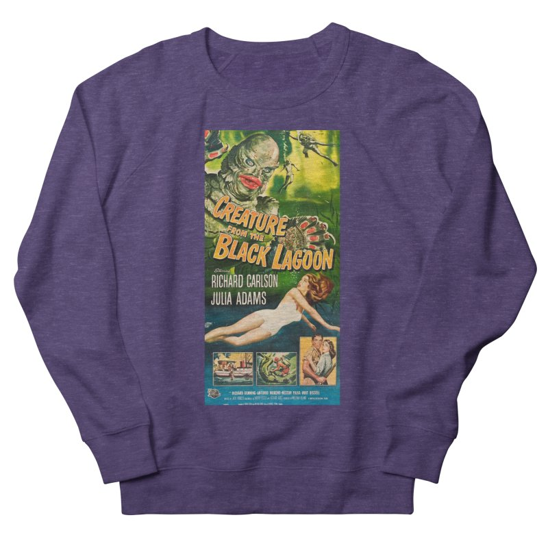 Creature from the Black Lagoon, vintage horror movie poster Women's Sweatshirt by ALMA VISUAL's Artist Shop