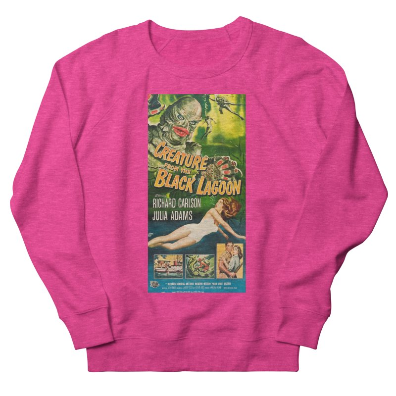 Creature from the Black Lagoon, vintage horror movie poster Men's Sweatshirt by ALMA VISUAL's Artist Shop