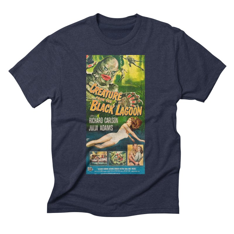 Creature from the Black Lagoon, vintage horror movie poster Men's Triblend T-Shirt by ALMA VISUAL's Artist Shop