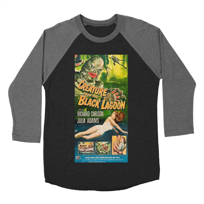 Creature from the Black Lagoon, vintage horror movie poster Women's Baseball Triblend T-Shirt by ALMA VISUAL's Artist Shop