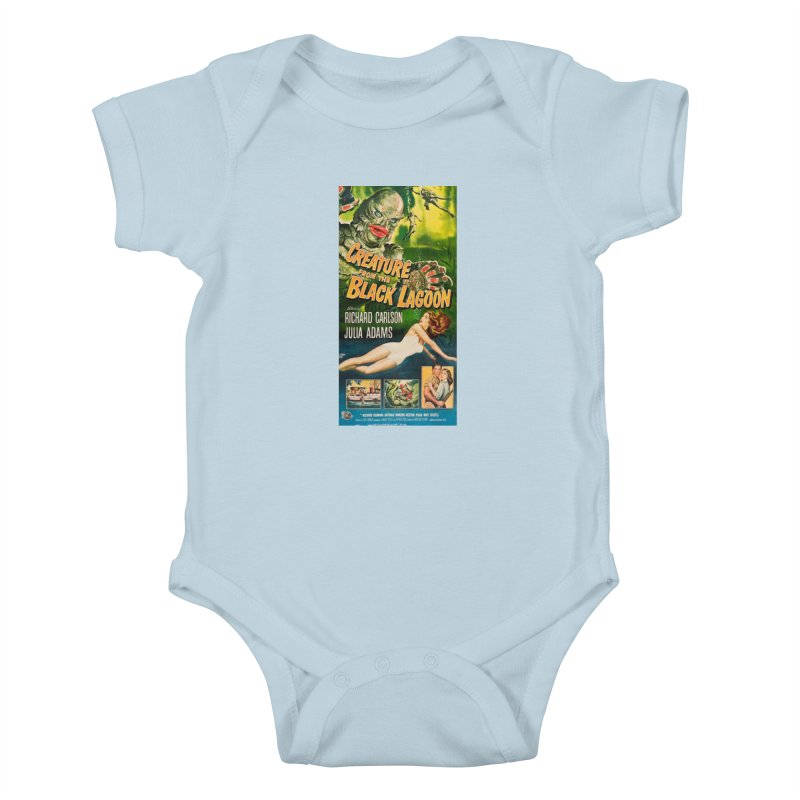 Creature from the Black Lagoon, vintage horror movie poster Kids Baby Bodysuit by ALMA VISUAL's Artist Shop