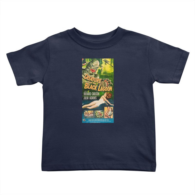 Creature from the Black Lagoon, vintage horror movie poster Kids Toddler T-Shirt by ALMA VISUAL's Artist Shop
