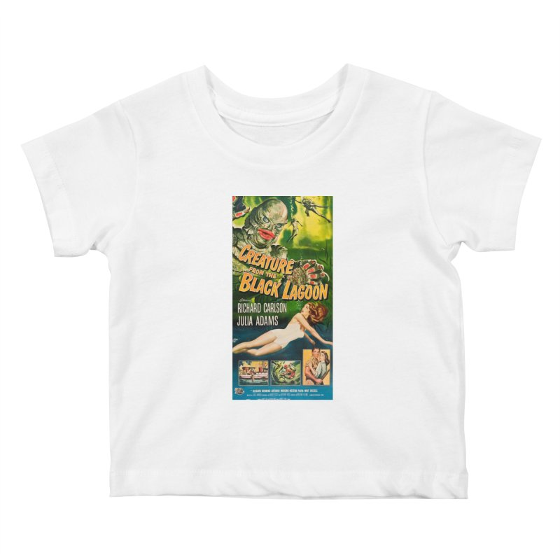 Creature from the Black Lagoon, vintage horror movie poster Kids Baby T-Shirt by ALMA VISUAL's Artist Shop