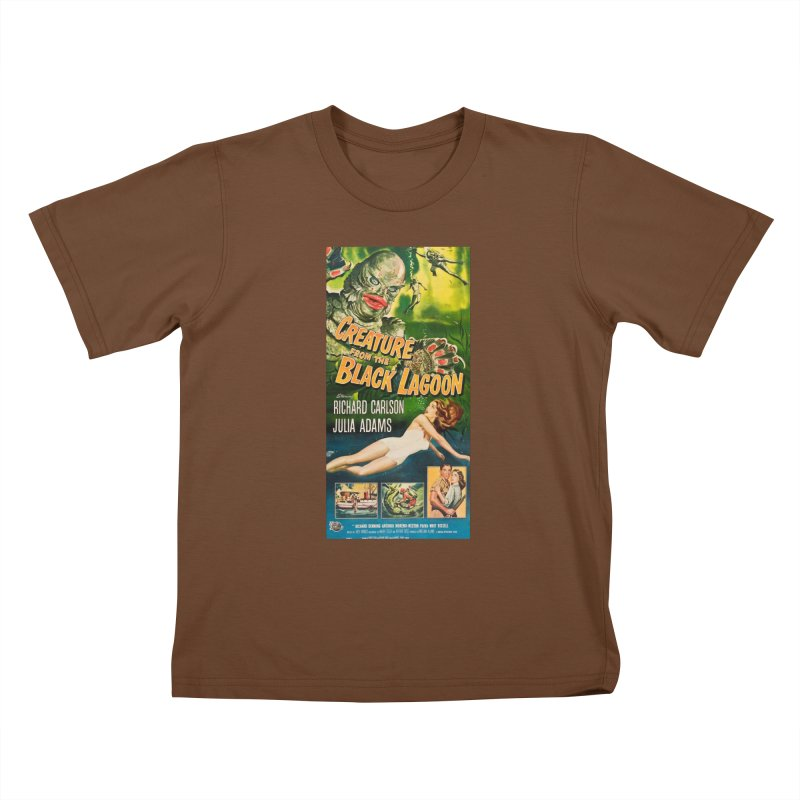 Creature from the Black Lagoon, vintage horror movie poster Kids T-shirt by ALMA VISUAL's Artist Shop