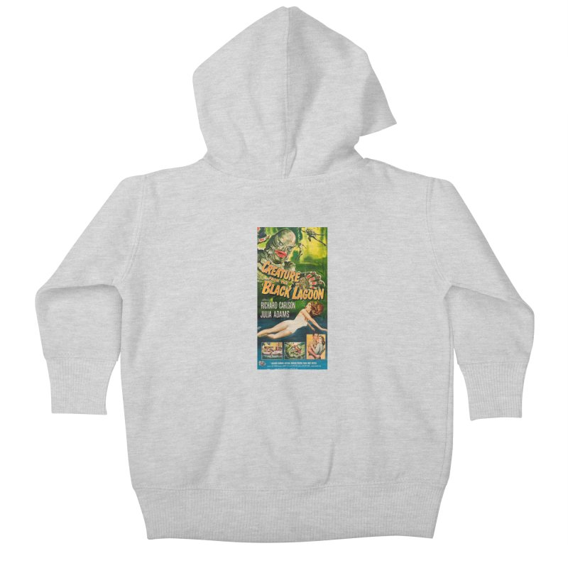 Creature from the Black Lagoon, vintage horror movie poster Kids Baby Zip-Up Hoody by ALMA VISUAL's Artist Shop