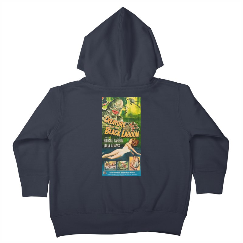 Creature from the Black Lagoon, vintage horror movie poster Kids Toddler Zip-Up Hoody by ALMA VISUAL's Artist Shop